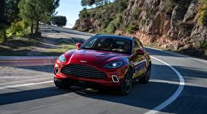 Images Roads Aston Martin Red Front Motion Crossover DBX, 2020 auto