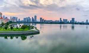 Tapety na pulpit Singapur Budynki Wybrzeże Zatoka Tanjong Rhu miasto