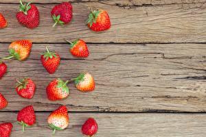 Hintergrundbilder Erdbeeren Beere Bretter Vorlage Grußkarte