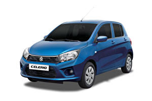 Picture Suzuki - Cars Blue Metallic White background Maruti, Celerio, 2017 Cars