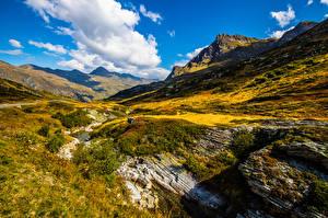 Fotos Schweiz Gebirge Wolke Alpen