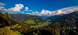 Wallpaper Switzerland Mountains Scenery Panorama Alps Clouds  Nature