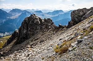 Bilder Schweiz Berg Steine Alpen Felsen