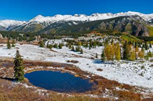 Hintergrundbilder Vereinigte Staaten Berg Wald Landschaftsfotografie Schnee San Juan National Forest Natur