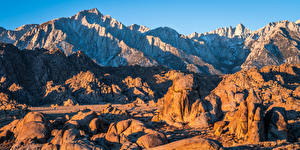 Pictures USA Mountains Stone Rock California Alabama Hills Nature