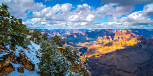 Picture USA Park Grand Canyon Park Scenery Crag Clouds Arizona