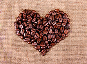 Wallpapers Valentine's Day Coffee Heart Grain