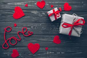 Bilder Valentinstag Herz Geschenke Bretter