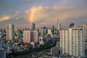 Fotos Vietnam Gebäude Flusse Ho Chi Minh City