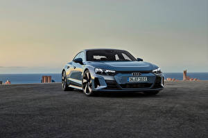 Wallpapers Audi Gray Metallic e-tron GT quattro, Worldwide, 2021 auto