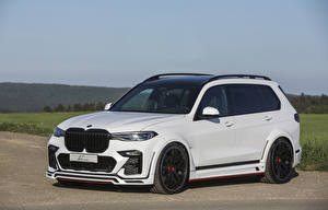 Pictures BMW White 2020 Lumma CLR X7 automobile