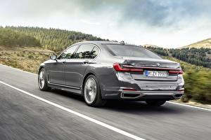Bureaubladachtergronden BMW Achteraanzicht Grijze 7 Series G12 G11 facelift 750 Li