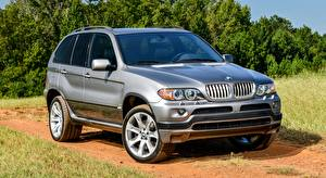 Sfondi desktop BMW Grigia CUV X5 4.8is, US-spec, 2004 autovettura