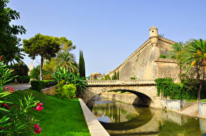 Pictures Bridges Fortress Spain Canal Palma de Mallorca, Balearic Islands