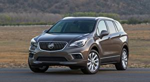 Wallpapers Buick Grey Front CUV Asphalt Envision, 2016 Cars