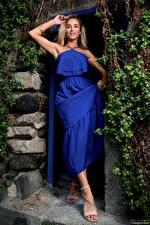 Images Cara Mell Blonde girl Dress Pose Glance Girls