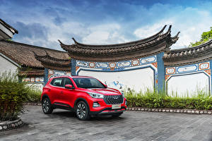 Images Chery CUV Red Metallic Tiggo 5x, 2020 Cars