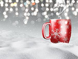 Image New year Mug Snow
