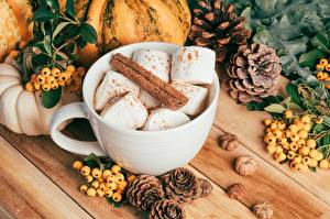 Wallpapers Cinnamon Zefir Berry Mug Conifer cone Food