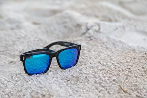Photo Closeup Eyeglasses Sand