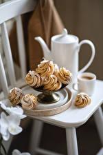 Papel de Parede Desktop Café Cappuccino Pequeno bolo Chávena Alimentos