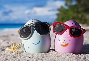 Fotos Kreativ Ei Zwei Kleine Sterne Brille lustige