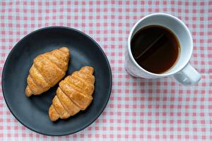 Wallpapers Croissant Coffee Mug Plate