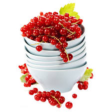 Wallpapers Currant Berry Red Bowl White background Food