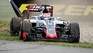 Bakgrundsbilder på skrivbordet Formel 1 Romain Grosjean, R8man, Haas Bilar