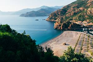 Tapety na pulpit Francja Wybrzeże Zatoka Gulf Porto, Corsica