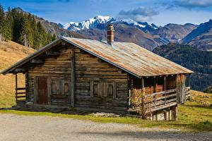 Fotos Frankreich Berg Gebäude Alpen Alte Areches Beaufort Natur