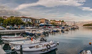 Fotos Griechenland Haus Fluss Schiffsanleger Binnenschiff Galaxidi