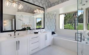 Bilder Innenarchitektur Design Badezimmer Lampe Spiegel