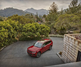 Image Jeep SUV Red Metallic 2021 Grand Cherokee L Overland automobile