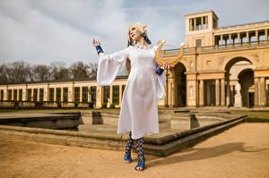 Picture Mikhail Davydov photographer Elves Blonde girl Cosplay Posing Zelda female