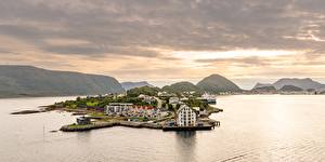 Pictures Norway Sea Mountain  Cities