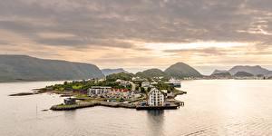 Fotos Norwegen Meer Berg  Städte