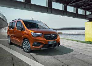 Bakgrundsbilder på skrivbordet Opel Skåpbil Brun Metallisk Combo-e Life, 2021 Bilar
