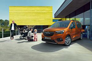 Bakgrundsbilder på skrivbordet Opel Skåpbil Bruna Metallisk Familj Combo-e Life, 2021 Bilar