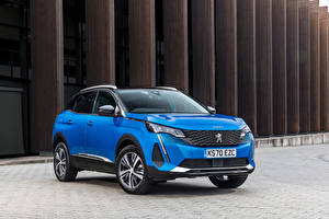 Image Peugeot Blue Metallic CUV 3008, UK-spec, 2021 automobile