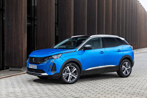 Pictures Peugeot Crossover Blue Metallic 3008, UK-spec, 2021 automobile