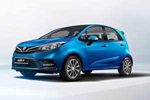 Wallpapers Blue Metallic Proton Iriz, 2019 Cars