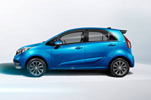 Picture Blue Metallic Side Proton Iriz, 2019 automobile