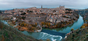 Pictures Spain River Toledo From above Castile-La Mancha, Tagus river