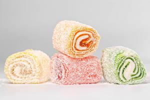 Hintergrundbilder Süßigkeiten Marmelade Grauer Hintergrund