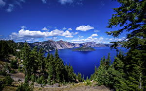 Fotos USA See Wald Insel Parks Oregon, Crater Lake National Park