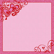 Photo Valentine's Day Heart Template greeting card Pink color