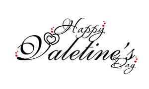 Wallpapers Valentine's Day Text English Heart White background