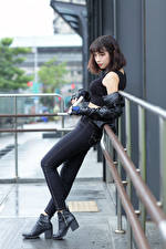 Wallpapers Asian Pistol Jeans Singlet Girls