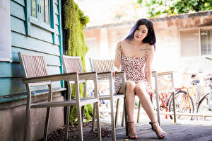 Wallpapers Asiatic Sit Bokeh Frock Glance Chairs female